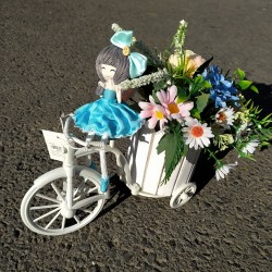 Bicykel - kvetiny