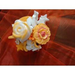 Mydlová dekorácia - oranžová